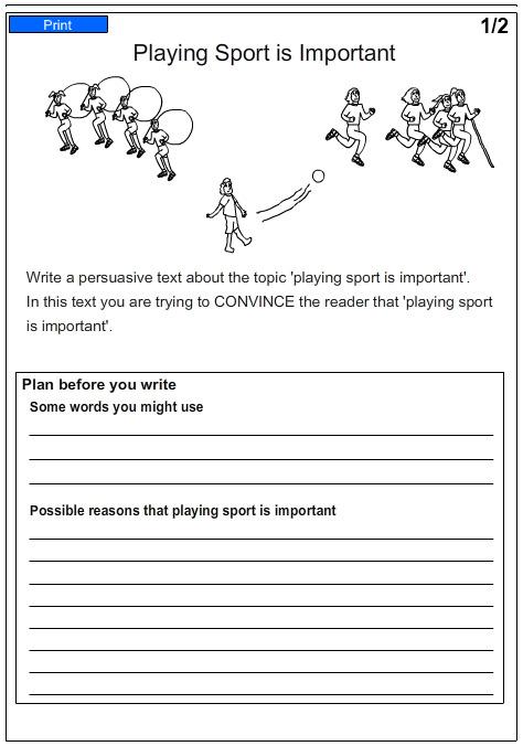 persuasive writing worksheets grade 5